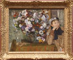 Edgar Degas -  A Woman Seated beside a Vase of Flowers 1865 (ahisgett) Tags: new york art museum met metropolitian