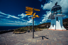 Cape Reinga, New Zealand (Alexandre DAGAN) Tags: ocean voyage travel blue sea newzealand sky mer lighthouse landscape pentax sigma bleu ciel cape 1020mm paysage phare k5 reinga nouvellezlande pentaxk5
