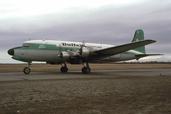 Buffalo Airways DC-4 C-GPSH 12May2000 (Peter M Garwood) Tags: canada aircraft nwt northwestterritories douglas yellowknife dc4 propliner buffaloairways skytruck cgpsh arcticdistributor
