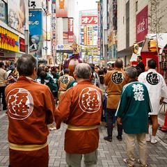 Mikoshi Parade in Akihabara (Apricot Cafe) Tags: holiday japan weekend performance parade matsuri chiyodaku mikoshi traditionalfestival tokyo tkyto canonef1635mmf28liiusm portableshrine ochanomizu kandamyojin kandamatsurifestival img613267