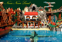 Never Never Land (Keith_Reed) Tags: never water rose bay sand lego shore pirate land compass compassrose legowater legosand