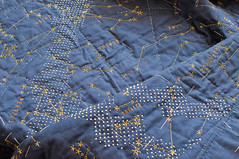Yvonne's Norther Stars Whole Cloth Quilt (the workroom) Tags: handwriting class stitching constellations theworkroom wholeclothquilt quiltsunday hapticlabs quotationclassconstellationshapticlabsquiltsundaywholeclothquilt