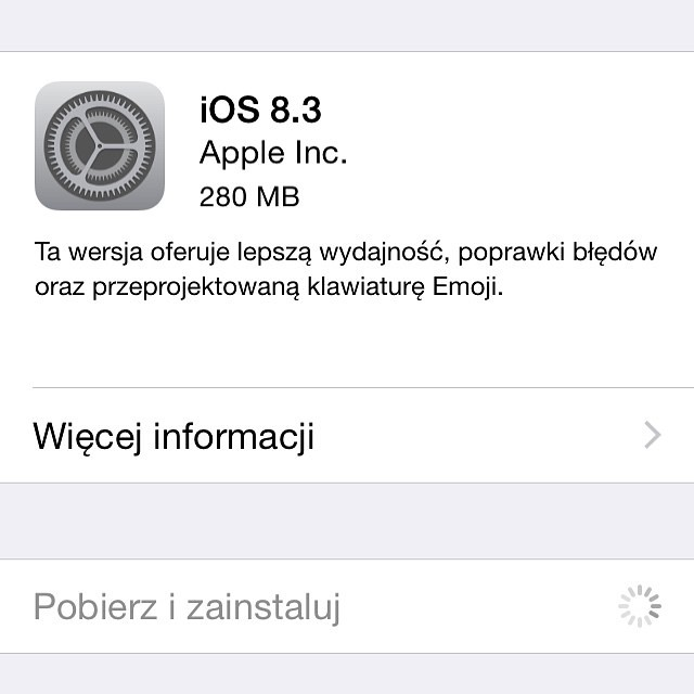 Finally Apple released  iOS 8.3 #update #udid#apple #appleman #iloveapple #applenerd #applecomputers #ios8 #ios7 #ios6 #iPad #iPad2 #iPadAir #iPhone #iPhone2g #iPhone4 #iPhone5s #mac #phone #iPhoneonly #iPhonecase #iphonesia #case #selfie #swag #amazing #