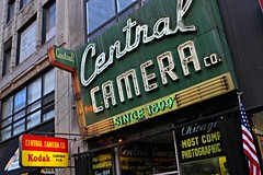 Central Camera Co. (dangaken) Tags: centralcamera centralcameraco chicagocamerastore camerastore photographystore 100years wabashave wabash chicago loop il illinois neon neonsign 1899 central camera store shop camerashop canon nikon kodak dgaken dangaken photobydangaken
