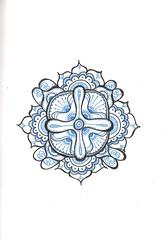 Tangle 197 (kraai65) Tags: drawing doodle tangle zentangle