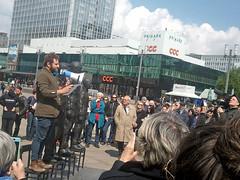 """""""Anything To Say?"""" - Berlin Alexanderplatz - May 1st 2015. (anchorexclusive) Tags: berlin surveillance alexanderplatz snowden manning bnd nsa anythingtosay masssurveillance julianassange assange bradleymanning davidedormino edwardsnowden chelseamanning"""