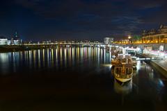Mitternachtselbe (JuliusMuschalek) Tags: night germany dresden boat long nacht saxony sachsen altstadt schiff elbe dampfschiff