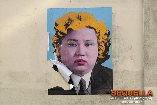 Kim Jong Un street art by Cartrain