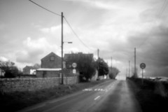 Stainton, Pinhole . (wayman2011) Tags: bw rural canon landscapes holga villages pinhole dales pennines lightroom countydurham teesdale canon400d stainton holgahlclens holgapinholelens