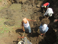 Desilting an existing well