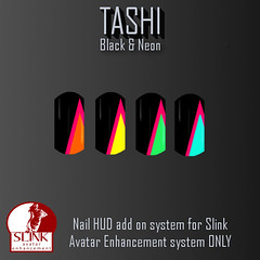 TASHI Black & Neon (Tashi Owner) Tags: 3 de nail polish sl nails secondlife manicure fingernail hunt tashi toenail uas esmalte ua slink my i
