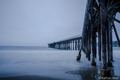 San Simeon Pier - 8882 (Karlton Huber) Tags: ocean longexposure seascape horizontal reflections pier morninglight waves shadows gloomy tide horizon calming peaceful overcast wideangle pilings swells tranquil gentle californiacoastline seafoam centralcalifornia softlight grayday 2015 smoothwater silkywater sansimeoncalifornia nikkor1