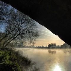 125/366 (scott.simpson99) Tags: mist water misty sunrise landscape derbyshire rivertrent willington 366 scottsimpson iphone6