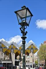 Cube house streetlight (myphotomailbox) Tags: netherlands rotterdam streetlight outdoor cubehouse