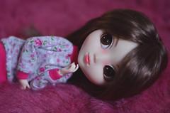 Warm evening (Dragonella~) Tags: pink cute fur nikon doll coco wig groove pullip brunette jojo monique fakefur alte obitsu pullipalte moniquegold d5100 pullipobitsu dragonella