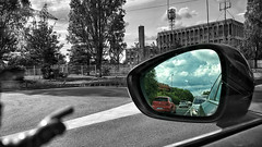 27/05/2016 day 278 : back in the past (shaye.photo@yahoo.fr) Tags: sky cloud paris apple weather mirror back noir sunny ciel rearview figurine miss rtroviseur nuage past blanc moutons couleur meteo iphone project365 365days 500px 365photos iphonephoto missmeteo ifttt iphone6s