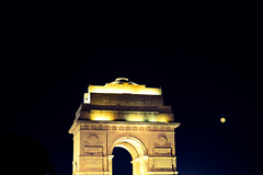 India Gate (Vaibhav Kaushik) Tags: nightphotography travel moon india art architecture night photography photo nikon flickr nightscape delhi indian picture architectural nightclub wanderlust newdelhi photooftheday picoftheday indiagate lowlightphotography incredibleindia indianphotography nikonphotography indianphotographers nikond3300 justgoshoot wandershots