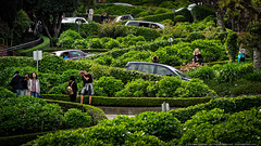 Sea of Green (mhoffman1) Tags: sanfrancisco california ca street green cars us photographer unitedstates curvy tourists winding iconic zigzag hdr crooked steep cowhollow switchback sonyalpha a7r aurorahdr