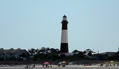 The Beach Life (ChicaD58) Tags: ocean vacation lighthouse beach spring tybeeisland beacon beachumbrella dolphintour dscf3249a