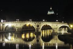 Tevere by night 4 (agennari) Tags: rome roma cupola tiber tevere sanpietro pontesisto