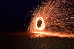 Steel Wool (mme1998) Tags: longexposure light metal nikon steel trails slowshutter paintingwithlight sparks steelwool d3300