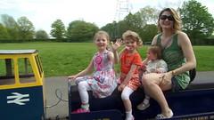 Passing train wave (BuddaBoy) Tags: train amy jane jessica sister robyn halton