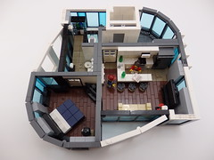 One Azure Hotel & Suites - 1BR/1BA Suite (wooootles) Tags: plaza building tower kitchen architecture skyscraper bathroom hotel living bedroom lego room suites moc legomoc legoskyscraper legobuilding oneazure