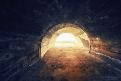 El final del tunel (Mimadeo) Tags: old light sunlight abandoned stone mystery dark way underground ancient loneliness interior empty grunge corridor tunnel nobody dirty spooky end inside underworld passage grungy