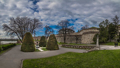 Kalemegdan castle,Belgrade (Vagelis Pikoulas) Tags: city travel sky panorama cloud castle clouds canon landscape march spring europe cityscape view cloudy pano serbia panoramic tokina balkans belgrade fortress beograd 6d 2016 1628mm
