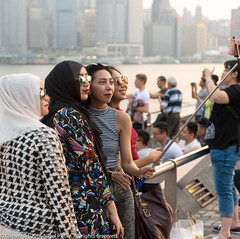 Waterfront Group Selfie (Pexpix) Tags: female girl harbour hongkong lady nikkorafs2470mmf28ged nikondf sea skyscrapers tourist water waterfront woman vacation victoria viewpoint kowloon
