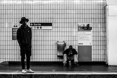 Pharrell' fan ?! (::nicolas ferrand simonnot::) Tags: street white black paris saint zeiss vintage lens photography 50mm metro jena mount mc strasbourg german carl ddr manual praktica denis | 2016 prakticar ƒ4 ƒ14