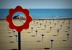 HO MASSO AL CENTRO I PALETTI. (Skiappa.....v.i.p. (Volentieri In Pensione)) Tags: caorle spiaggia mare vacanza sabbia paletti panasonic lumix skiappa