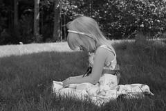 1.6.-13 (Merbiili's) Tags: blackandwhite girl suomi finland outside child lapsi ulkona tytt mustavalkoinen