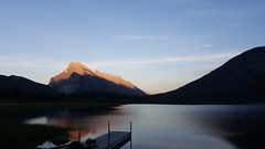 Vermilion Lake (Anne Oldfield) Tags: sunset canada mountains water rockies dock banff vermilionlake