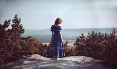 The Edge (Andrea Peipe) Tags: woman bluedress edge mountains saxony meetup saxonyfg15 sunrise nikon d810 explored