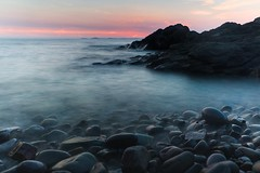 Little Haven Sunset (garethleethomas) Tags: longexposure sunset sea sky sun evening coast rocks slowshutter pembrokeshire