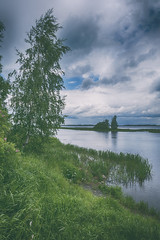 The Volga river (andrey.senov) Tags: russia kostroma province summer june bayou river volga clouds sky rain            fujifilm fuji xa1 fujifilmxa1 45faves