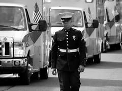 Marine (pilechko) Tags: blackandwhite monochrome soldier military nj memorialday lambertville