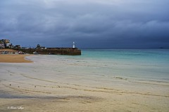 St Ives Harbour (Ali Ly) Tags: sea lighthouse holiday beach rain clouds cornwall day harbour outdoor gulls stives