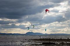 kitesurfing at Longniddry (SamRoss1) Tags: sea kitesurfing longniddry