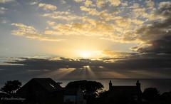 Irish Sea (dangerousdavecarper) Tags: sea irish sun buildings farm rays burst beams manx clods iseofman cronkmoar