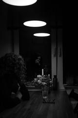 DSC_4772 (tim_boa) Tags: black white schwarz weis lights lichter woman frau dark dunkel window fenster reflection reflektion