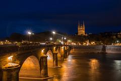 Le pont de Verdun et la cathdrale (gribsy) Tags: angers night nuit ville lumire ambiance cit