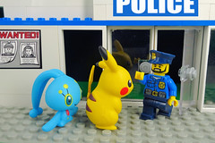 Pokemon Go! No! No! NOT Inside the Police Station (Lesgo LEGO Foto!) Tags:  lego minifig minifigs minifigure minifigures collectible collectable legophotography omg toy toys legography fun love cute coolminifig collectibleminifigures collectableminifigure pokemongo pokemon go pikachu monster monsters augmentedreality augmented reality emergencyrescue ar er armode arfunction ashketchum ash ketchum manaphy spritzee