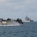 An LCAC approaches USS Ashland.