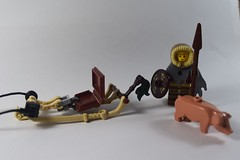 Winter Sledge (2) (emperor.willmot) Tags: winter castle pig lego medieval sled sleigh