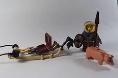 Winter Sledge (2) (emperor.willmot) Tags: winter castle pig lego medieval sled sleigh