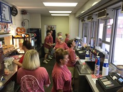 We ran concessions at the Hickory Crawdads, with Kiwanis, for our Catawba County Special Olympics Fundraiser.