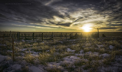 Winterset (Chains of Pace) Tags: winter snow oklahoma clouds fence western oldwest cloudsstormssunsetssunrises