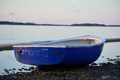 Lone Boat (mikecosmo) Tags: capecod cape cod ma massachusetts 2016 july q3 lone boat beached beach nikon dusk out outdoors outside